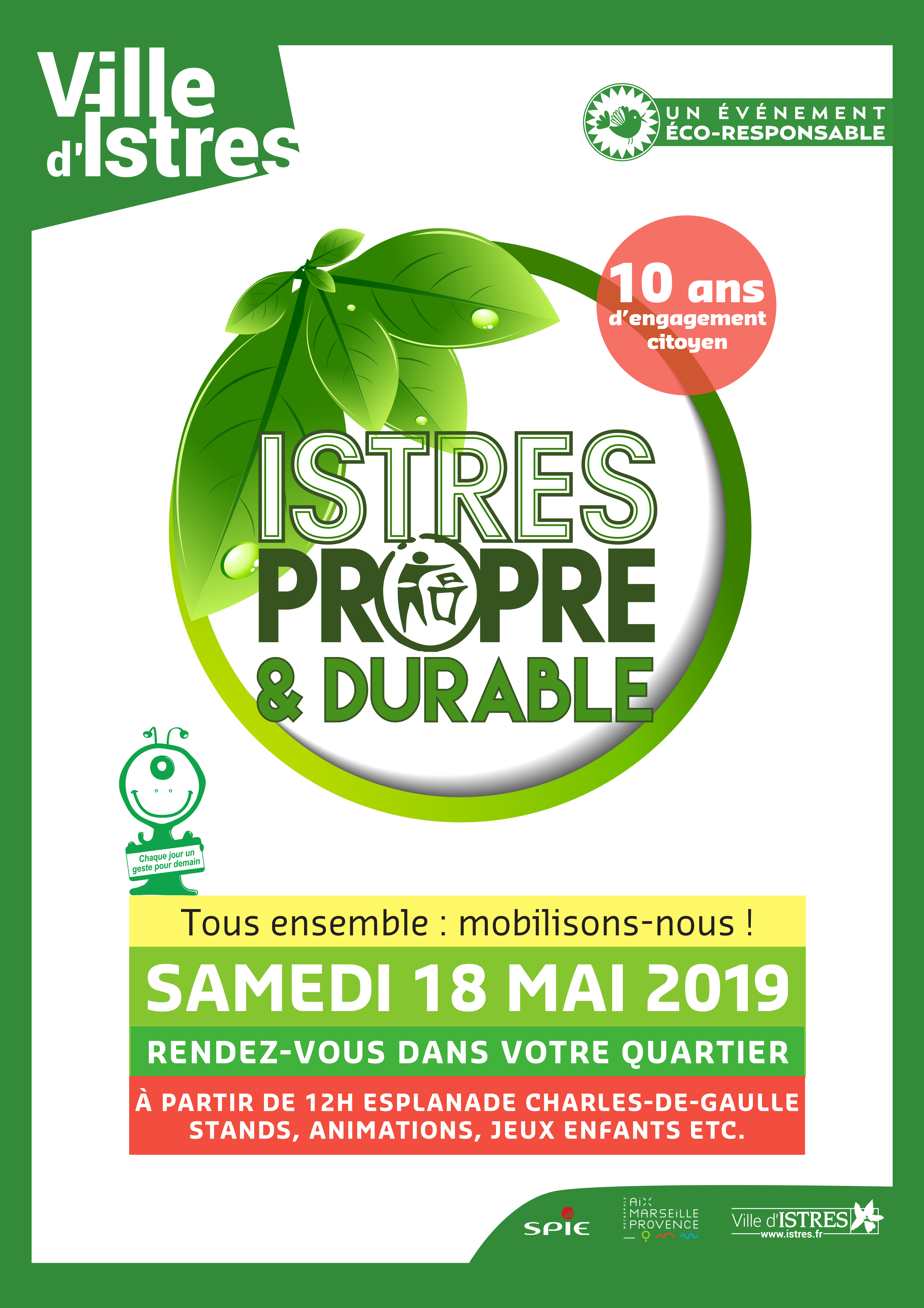 Istres Propre Durable Affiche